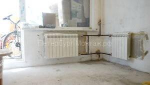 Установка радиатора отопления сварка