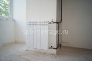 После переноса радиатора отопления